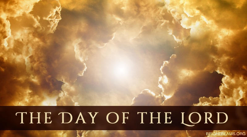 The Day of the Lord - the sun surrounded by golden clouds