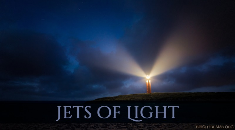 Jets of Light - a lighthouse at twilight