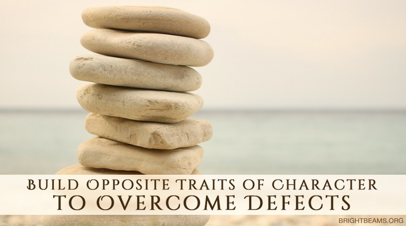 Build Opposite Traits of Character to Overcome Defects - a stack of rocks