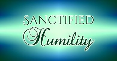 Sanctified Humility