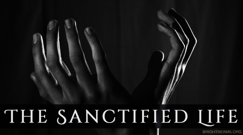 The Sanctified Life - hands raised in prayer